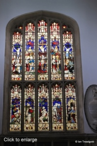 Cardington - St Mary. East window internal.