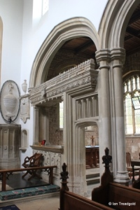 Cardington - St Mary. Chancel, south or Lady Chapel screen.