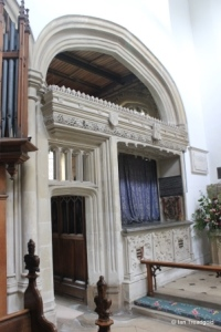 Cardington - St Mary. North chapel, chancel screen.