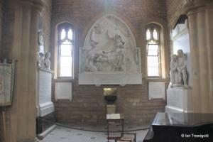 Cardington - St Mary. North transept, Whitbread monuments.