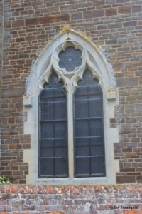 Campton - All Saints. Tower, west window.