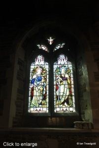 Campton - All Saints. South aisle, south-east window internal.