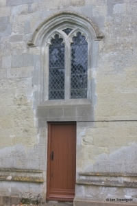 Totternhoe - St Giles. West door and window.