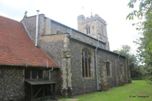 Caddington - All Saints. North aisle and vestry.
