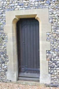 Caddington - All Saints. Chancel, priest's door.