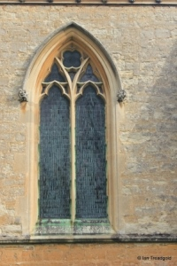 Turvey - All Saints. Chancel, south-east window.