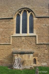 Turvey - All Saints. South aisle, south-east window.