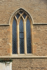 Turvey - All Saints. South aisle, south-west window.