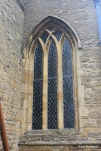 Turvey - All Saints. South aisle, west window.