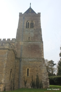 Turvey - All Saints. Tower from the north.