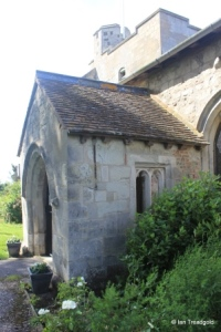 Chalgrave - All Saints. South porch from the east.