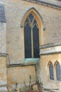 Turvey - All Saints. Chancel, north window.