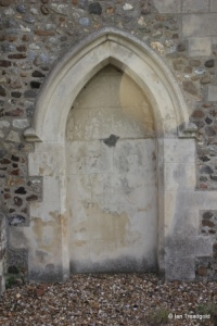 Chalgrave - All Saints. North aisle, blocked north doorway.