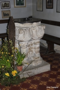 Turvey - All Saints. Font.