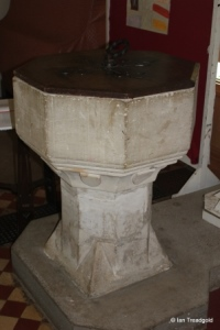 Clophill - St Mary. Font.