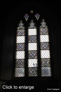 Turvey - All Saints. South aisle, east window internal.