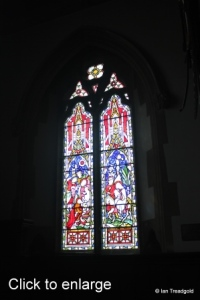 Turvey - All Saints. Chancel window internal.