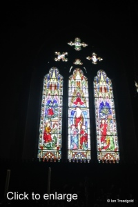 Turvey - All Saints. East window, internal.