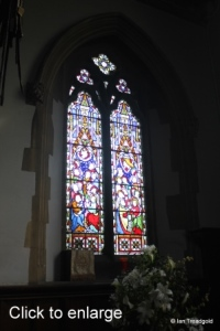 Turvey - All Saints. Chancel, north window internal.