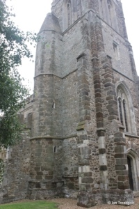 Cockayne Hatley - St John the Baptist. Tower from the north-west.