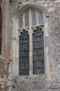 Cockayne Hatley - St John the Baptist. North aisle, east window.