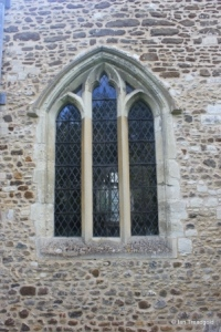 Westoning - St Mary. North aisle, north-west window.