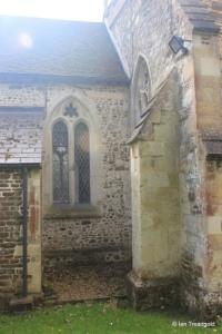 Westoning - St Mary. Chancel, north-west window.