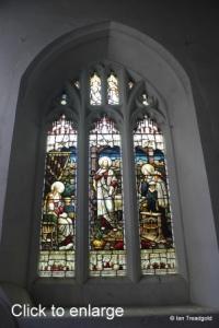 Westoning - St Mary. South aisle, south-east window internal.
