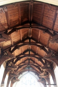 Dunton - St Mary Magdalene. Chancel roof.