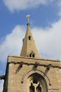 Dean, All Hallows. Tower parapet and steeple.