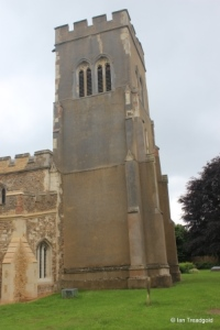 Stotfold - St Mary. Tower from the north-west.