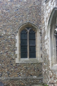 Stotfold - St Mary. Chancel, north-west window.