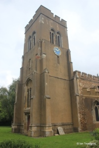 Stotfold - St Mary. Tower from the south-west.