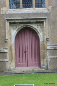 Stotfold - St Mary. West door.