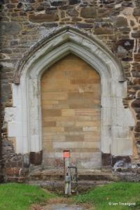 Eversholt - St John the Baptist. Blocked north doorway.