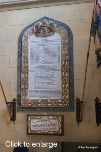 Woburn - St Mary. South aisle, east end memorial.