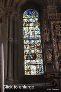 Woburn - St Mary. Chancel, north-east window internal.