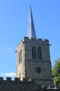 Wootton - St Mary. Tower from the north.