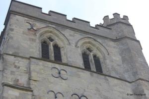 Edlesborough - St Mary the Virgin. Tower belfry openings.