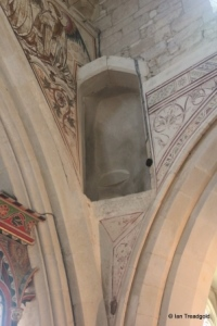 Edlesborough - St Mary the Virgin. Chancel screen stair.