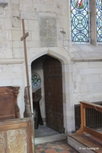 Edlesborough - St Mary the Virgin. Passageway from chancel to transept.