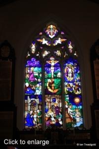 Cockayne Hatley - St John the Baptist. East window internal