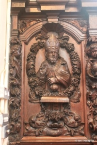 Cockayne Hatley - St John the Baptist. Chancel carvings.