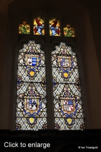 Cockayne Hatley - St John the Baptist. Chancel, north window internal