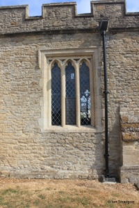 Yelden - St Mary. South aisle, south-west window.