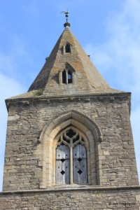 Yelden - St Mary. Tower belfry window.