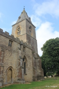 Yelden - St Mary. Tower from the north-east.
