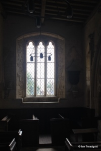 Yelden - St Mary. South aisle, east window internal.