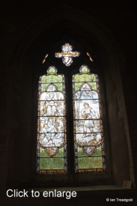 Yelden - St Mary. Chancel, south-west window internal.