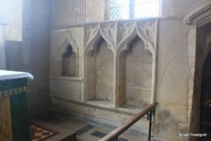 Yelden - St Mary. Chancel, sedilia